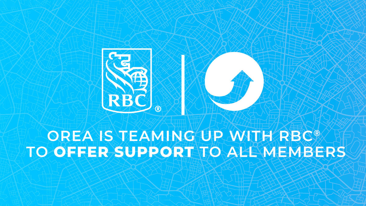 Image detailing OREA's team up with RBC to support members