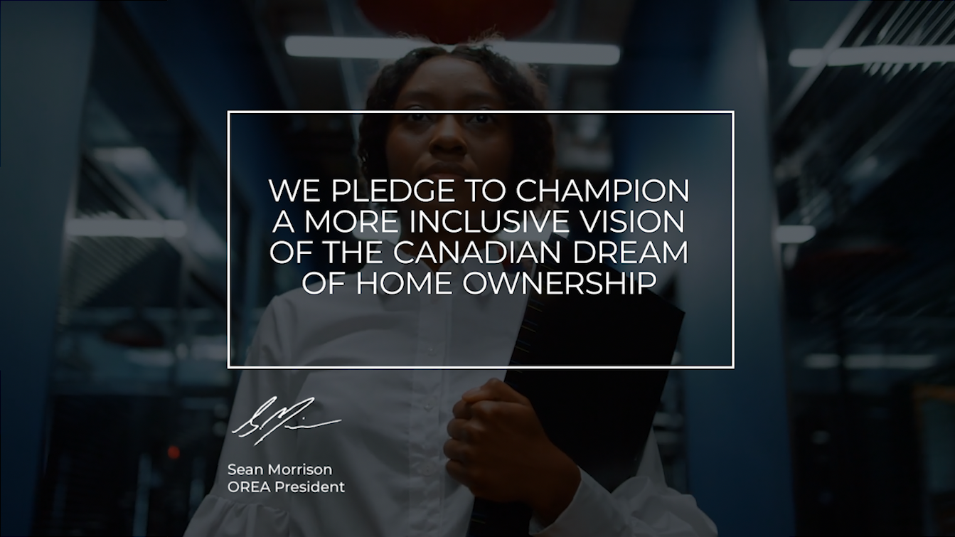 Image detailing OREA's pledge to champion more inclusiveness