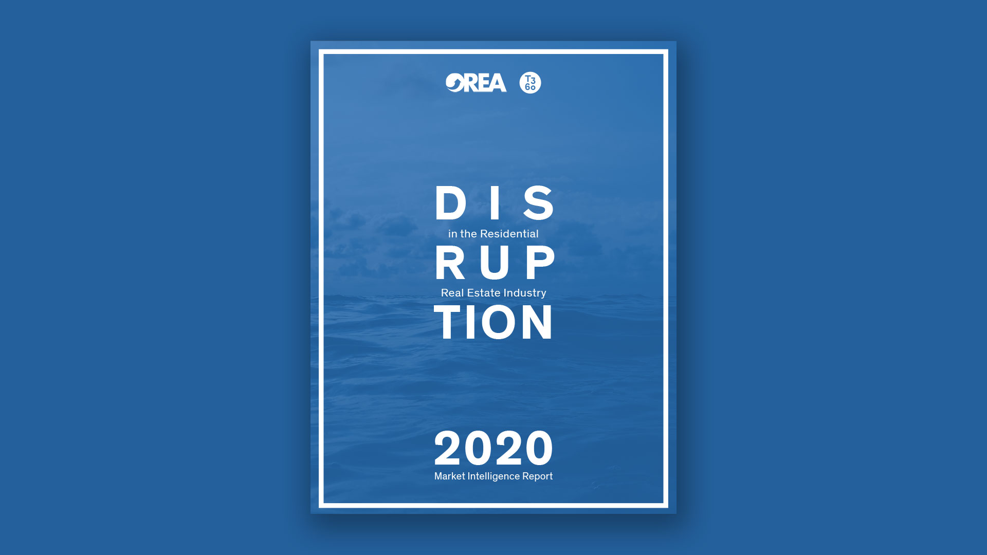Cover image of the 'Disruption in the Real Estate Industry report'