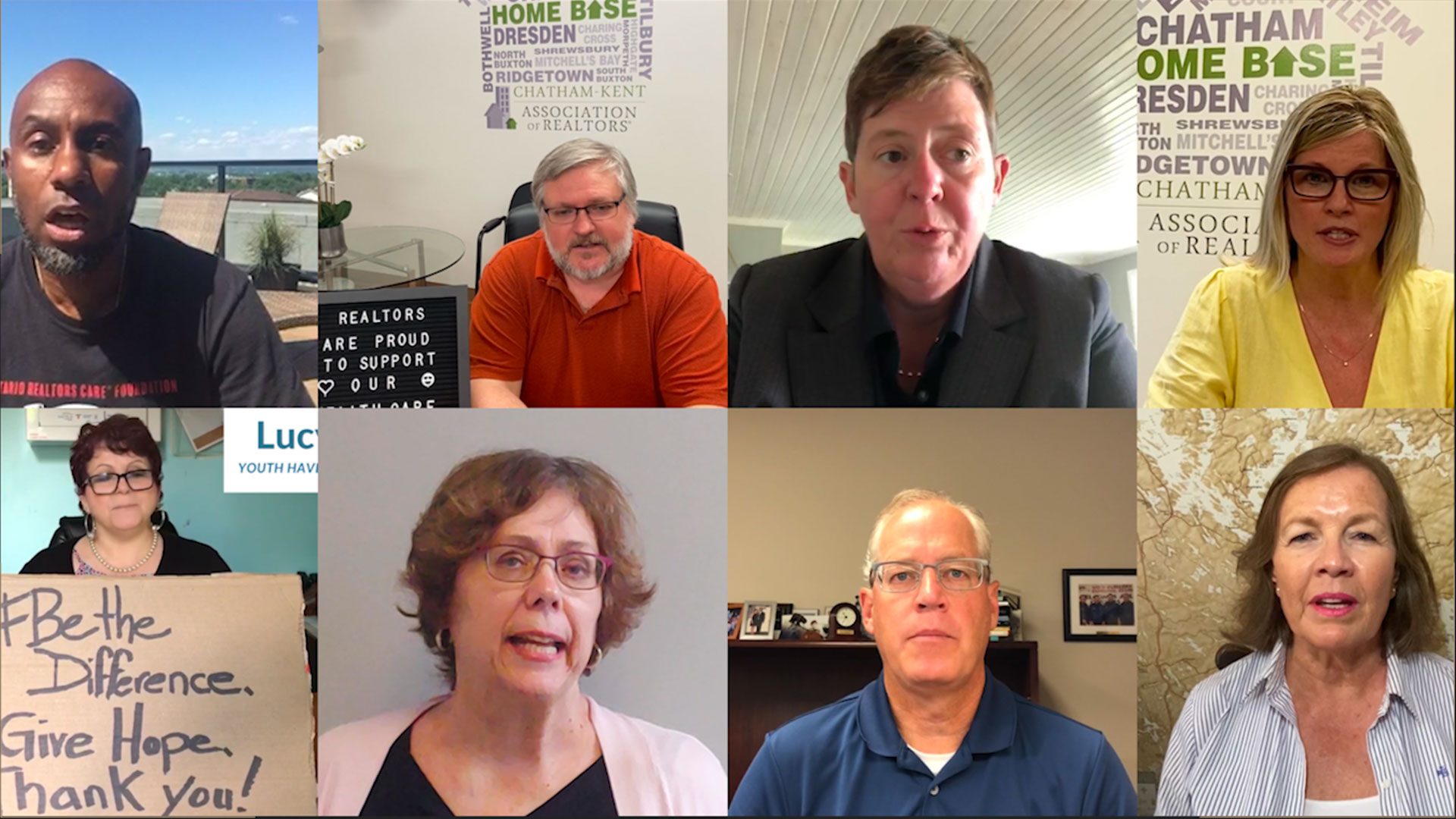 Video poster of people saying thank you for OREA's COVID-19 Relief Funding