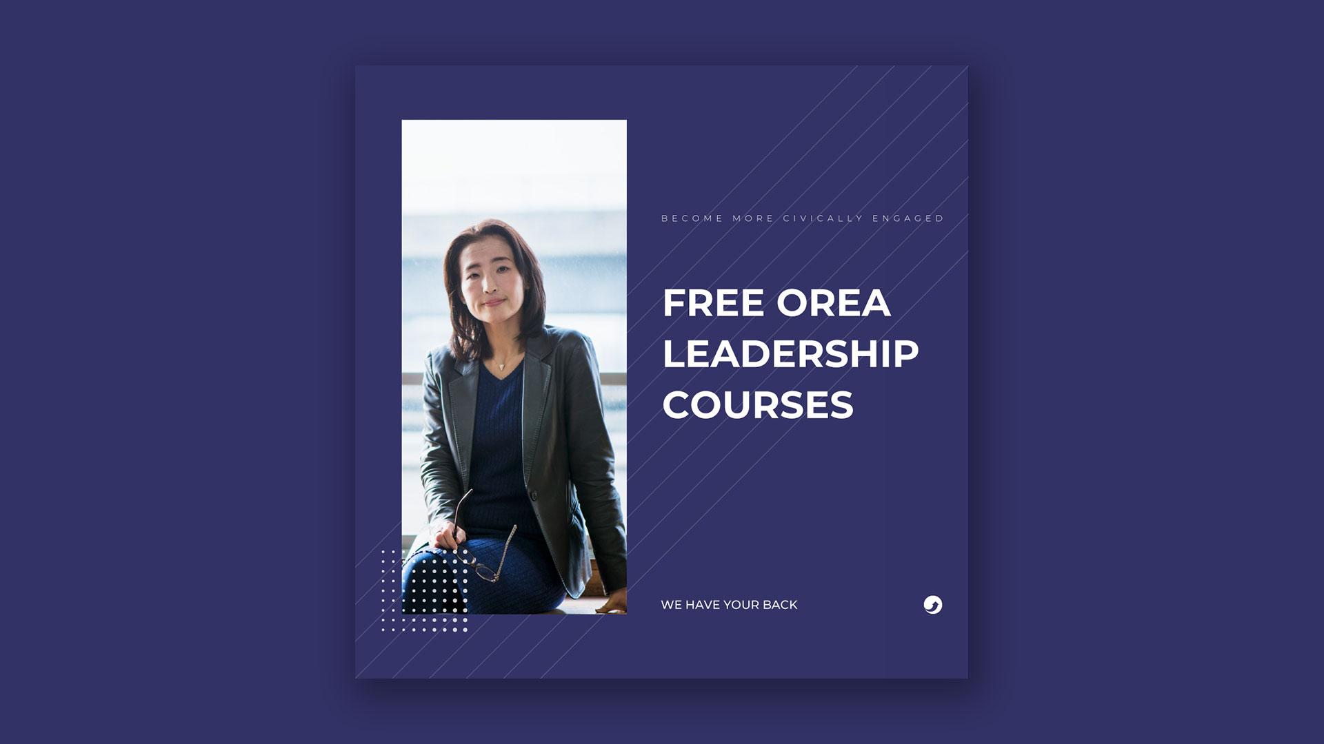 Image of OREA's free leadership courses