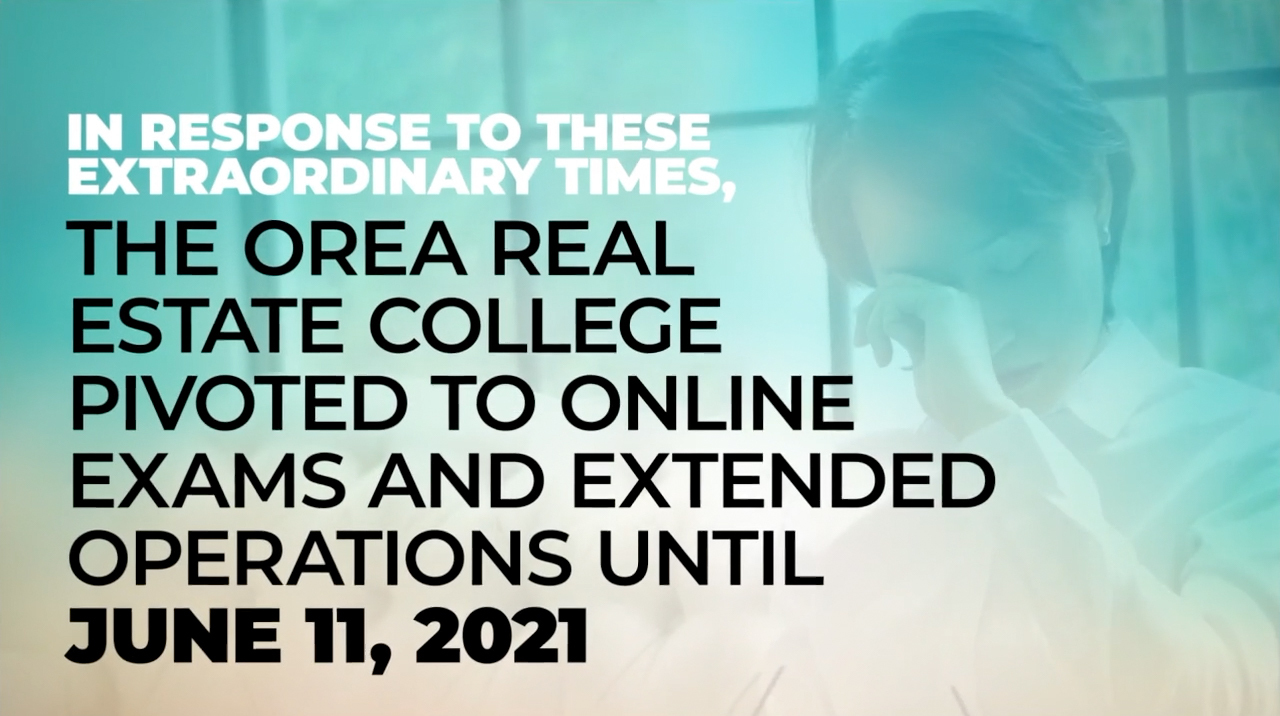 Image detailing the extension on closing the online OREA college