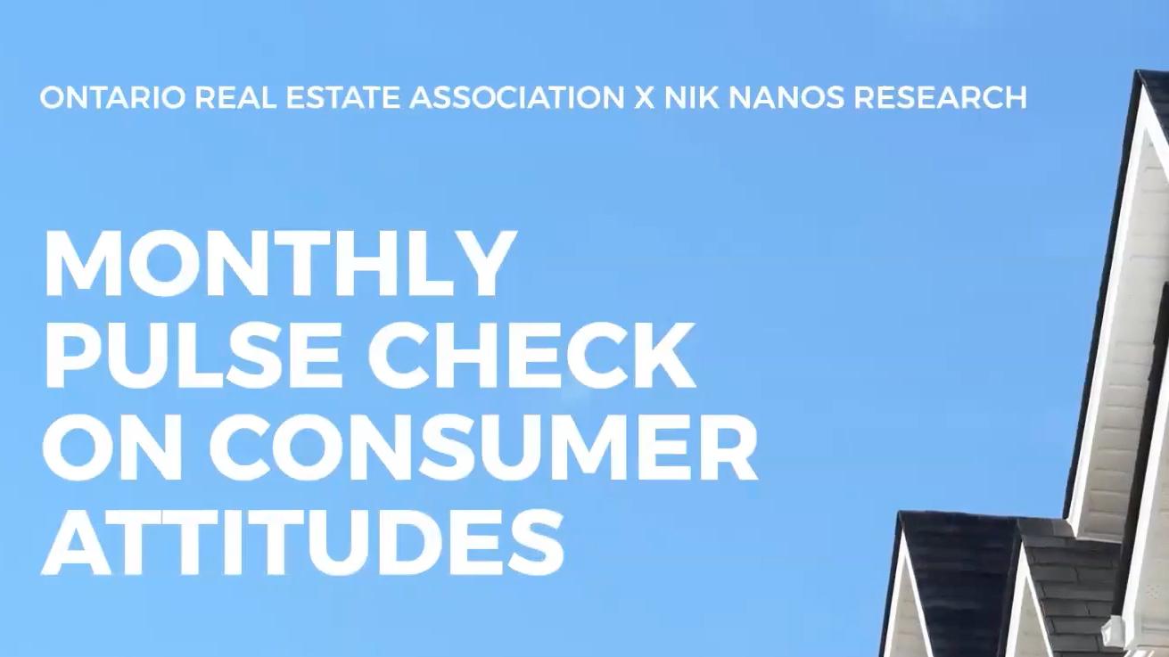 Video poster of video of the OREA and Nik Nanos report the pulse check of consumer attitudes